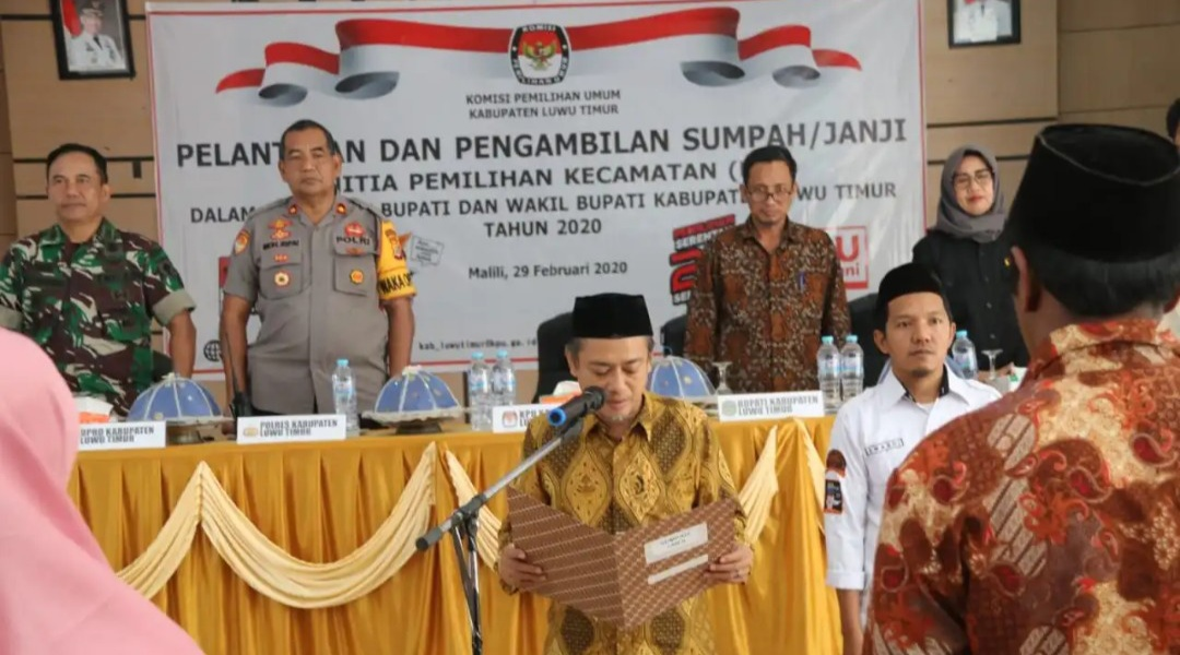 55 Anggota PPK di Lutim Dilantik